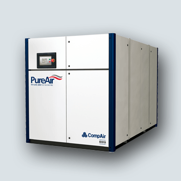 Oil-Free Fixed & Regulated Speed Rotary Screw Compressors D Series 75-300 kW