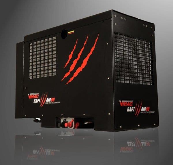 VMAC Raptair Diesel Engine Drive Air Compressor Truck Utilities